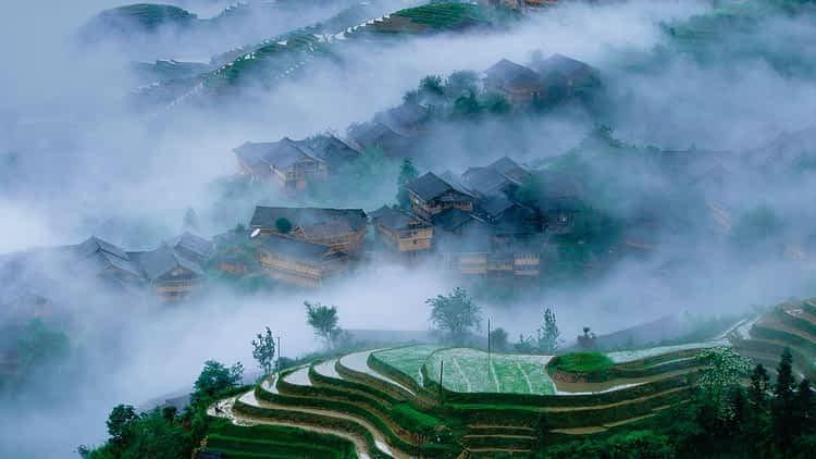Оризовите тераси Лонгшенг, Китай