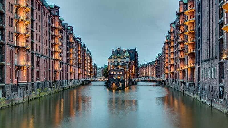Speicherstadt, Хамбург, Германия